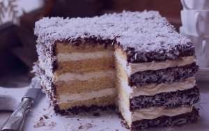 طرز تهیه کیک لامینگتون , کیک لامینگتون , روش پخت کیک لامینگتون