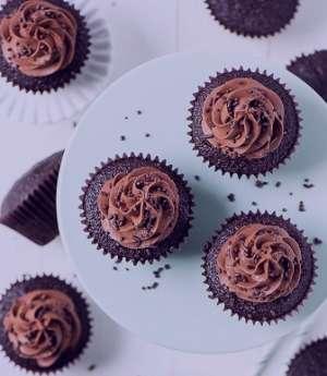 طرز تهیه کاپ کیک دبل چاکلت , کاپ کیک دبل چاکلت , کاپ کیک دبل چاکلت مخصوص