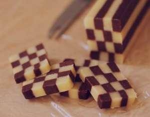 طرز تهیه شیرینی شطرنجی , شیرینی شطرنجی , دستور پخت شیرینی شطرنجی