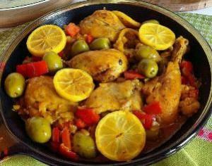 طرز تهیه مرغ با زیتون و لیمو , مرغ با زیتون و لیمو , خوراک مرغ با زیتون و لیمو