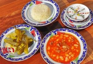 طرز تهیه فاصولیا با مرغ , فاصولیا با مرغ , خورش لوبیا سفید