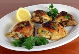 طرز تهیه ران مرغ سوخاری با سس قارچ و پیاز , ران مرغ سوخاری با سس قارچ و پیاز , ران مرغ سوخاری با سس قارچ , مرغ سوخاری