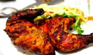 طرز تهیه مرغ تندوری , مرغ تندوری , مرغ تندوری با سس نعناع