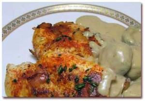 طرز تهیه مرغ سرخ کرده با سس قارچ , مرغ سرخ کرده با سس قارچ , مرغ با سس قارچ