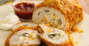 طرز تهیه سینه مرغ شکم پر , سینه مرغ شکم پر , روش تهیه سینه مرغ شکم پر