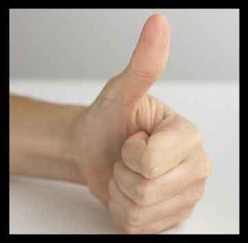 انگشت شست , انگشت شست دست به انگلیسی , انگشت شست یا شصت , انگشت شست کج