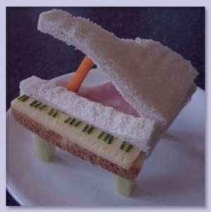 قطار ساندویچی برای کودکان , قطار ساندویچی , ساندویچ به شکل قطار