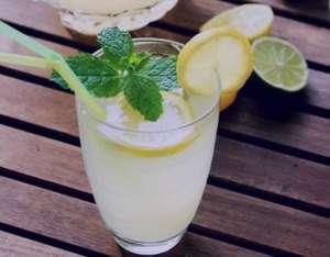 طرز تهیه لیموناد نعنایی , لیموناد نعنایی , شربت لیمو و نعنا