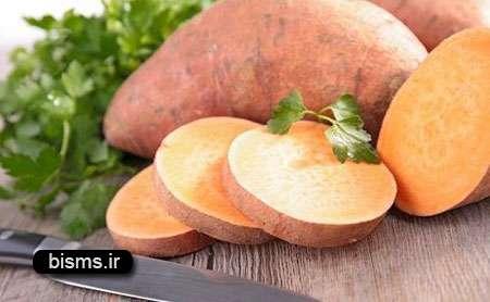 سیب زمینی شیرین , سیب زمینی شیرین برای نوزادان , سیب زمینی شیرین و لاغری , سیب زمینی شیرین غذا