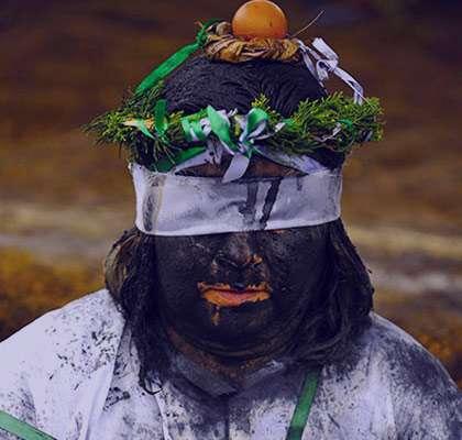 عکسهایی ترسناک و وحشتناک از مراسم جنگیری در کلمبیا