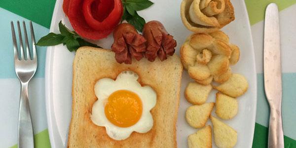 تزیین صبحانه , تزیین صبحانه عروس , تزیین صبحانه کودک , تزیین صبحانه برای مدرسه
