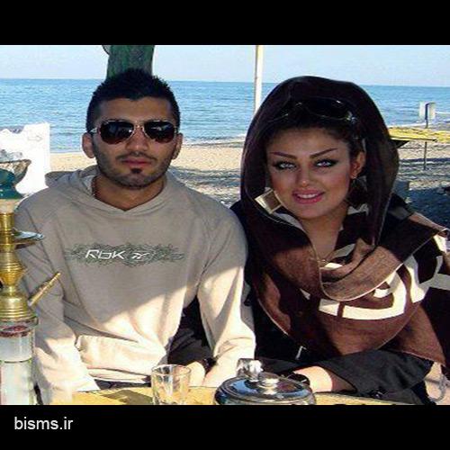محسن مسلمان و همسرش
