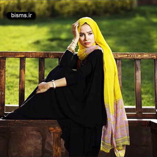 عکس گریم جالب الناز حبیبی در نمایش من آنجا نیستم