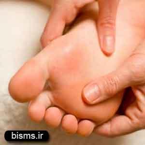 رفع درد قوس کف پا